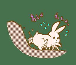 Rabbits Ami and foo sticker #900739