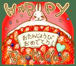 Rabbits Ami and foo sticker #900741