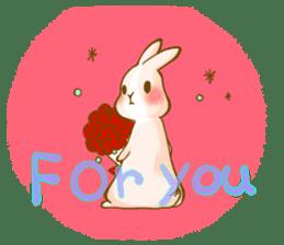 Rabbits Ami and foo sticker #900742
