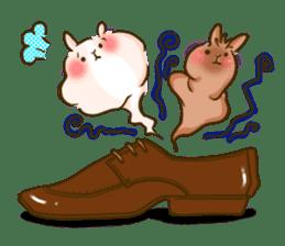 Rabbits Ami and foo sticker #900743