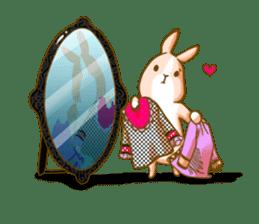 Rabbits Ami and foo sticker #900744
