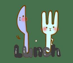 Rabbits Ami and foo sticker #900745