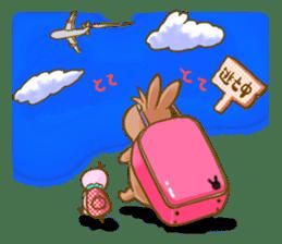 Rabbits Ami and foo sticker #900746