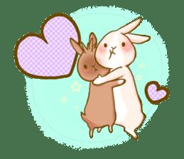 Rabbits Ami and foo sticker #900748