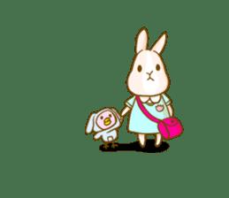 Rabbits Ami and foo sticker #900750
