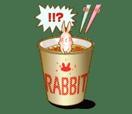 Rabbits Ami and foo sticker #900755