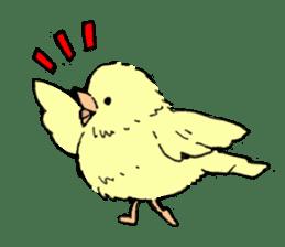yellow bird sticker #910279