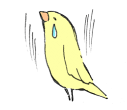 yellow bird sticker #910283