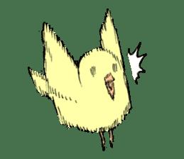 yellow bird sticker #910285