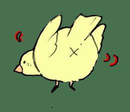 yellow bird sticker #910289