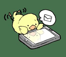 yellow bird sticker #910291