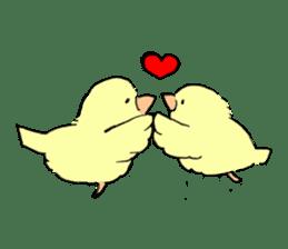 yellow bird sticker #910292