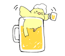 yellow bird sticker #910294
