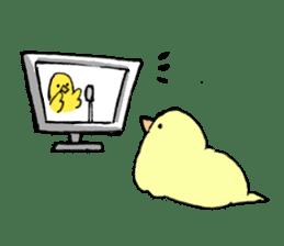 yellow bird sticker #910295