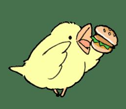 yellow bird sticker #910296