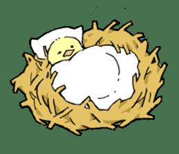 yellow bird sticker #910297