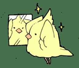 yellow bird sticker #910299