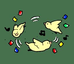 yellow bird sticker #910302