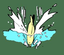 yellow bird sticker #910304