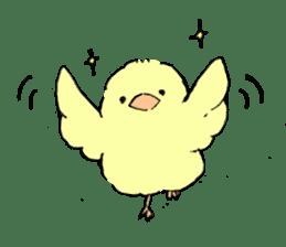 yellow bird sticker #910305