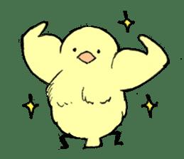 yellow bird sticker #910307