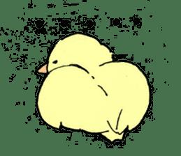 yellow bird sticker #910310