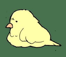 yellow bird sticker #910311