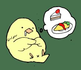 yellow bird sticker #910313