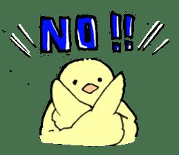 yellow bird sticker #910316