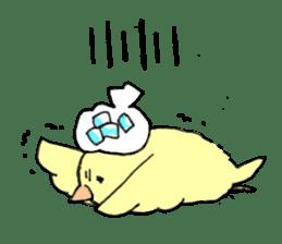 yellow bird sticker #910318