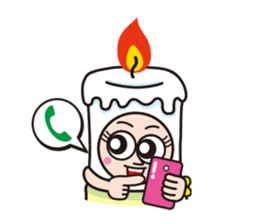 Candle employee sticker #911700