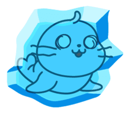 Sonee, the cute kawaii blue baby seal sticker #913887