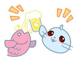 Sonee, the cute kawaii blue baby seal sticker #913909