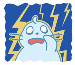 Sonee, the cute kawaii blue baby seal sticker #913915