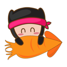 Ryuji, the funny little ninja sticker #916459