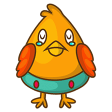 Cubie, the cute chubby chicken sticker #916480