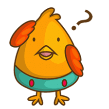 Cubie, the cute chubby chicken sticker #916482