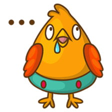 Cubie, the cute chubby chicken sticker #916486