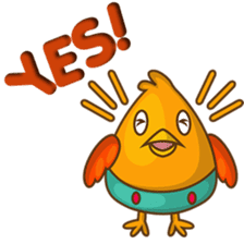 Cubie, the cute chubby chicken sticker #916488