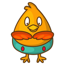 Cubie, the cute chubby chicken sticker #916489