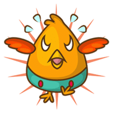 Cubie, the cute chubby chicken sticker #916490