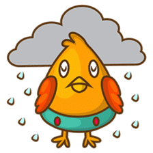Cubie, the cute chubby chicken sticker #916491