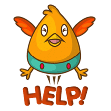 Cubie, the cute chubby chicken sticker #916493