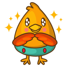 Cubie, the cute chubby chicken sticker #916494