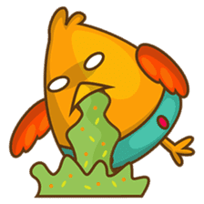 Cubie, the cute chubby chicken sticker #916502