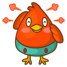 Cubie, the cute chubby chicken sticker #916503