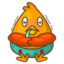 Cubie, the cute chubby chicken sticker #916507