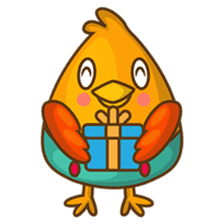 Cubie, the cute chubby chicken sticker #916508