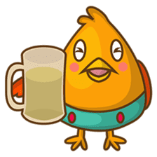 Cubie, the cute chubby chicken sticker #916509