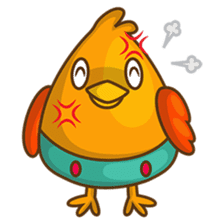 Cubie, the cute chubby chicken sticker #916510